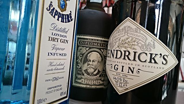 forskellige gins